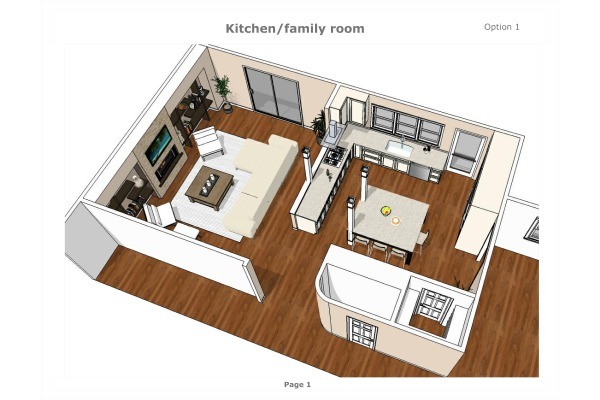Image kitchen/family room