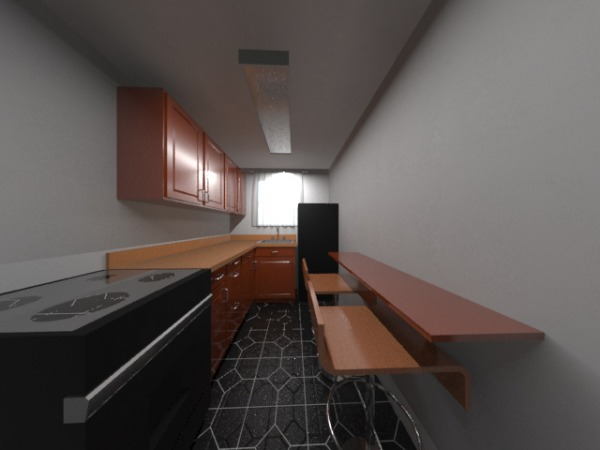 A Render of The Kitchen