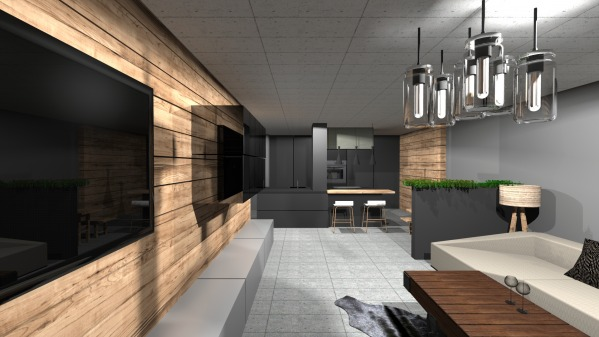 Image open kitchen + living ... (1)