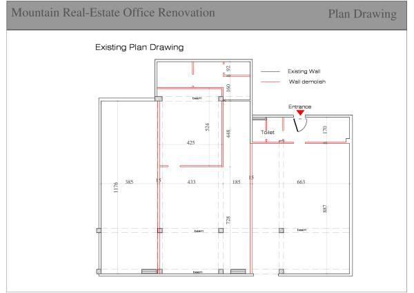 Image existing plan drawing