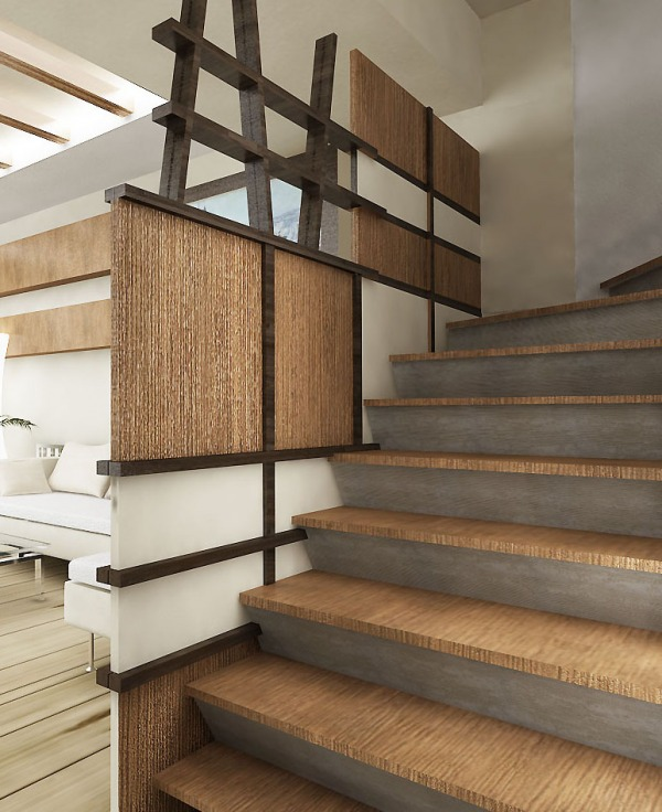 Home interiors designed by mhd group 1960 39 s ranch style Ranch style staircase