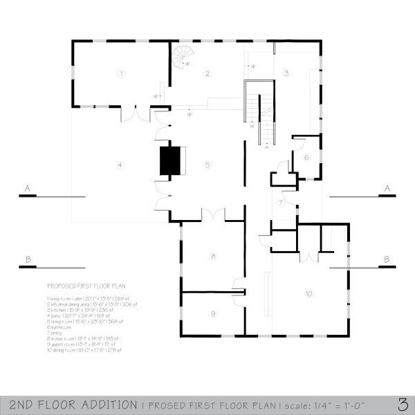 Room garages and similar additions designed by nicholas for Second floor addition floor plans