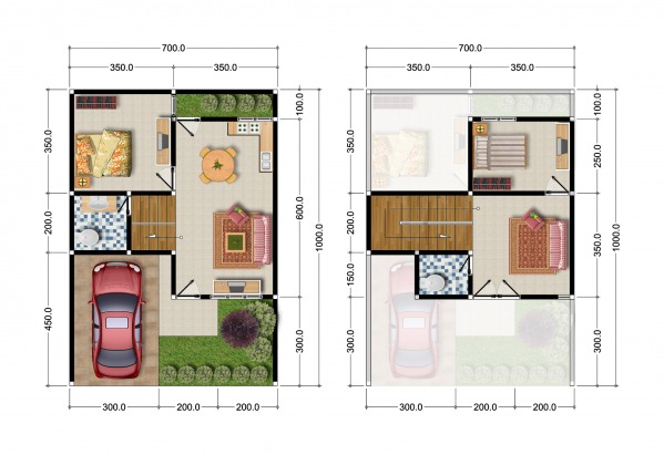 Floor plan for each un...