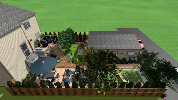 Image Back yard improvement ...