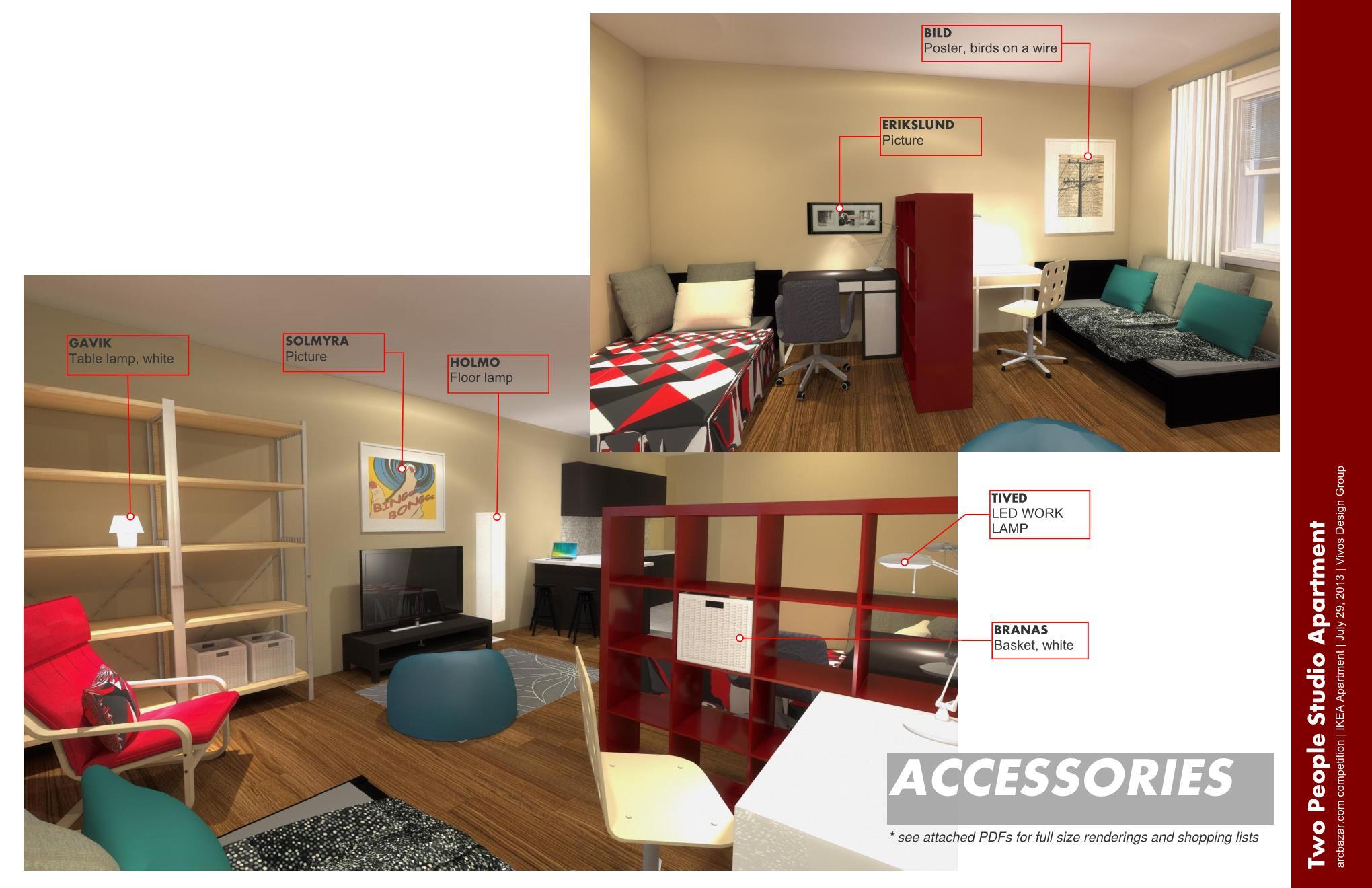 Apartment design designed by vivos design group ikea apartment skillman us arcbazar - Studio apartment design ideas ikea ...
