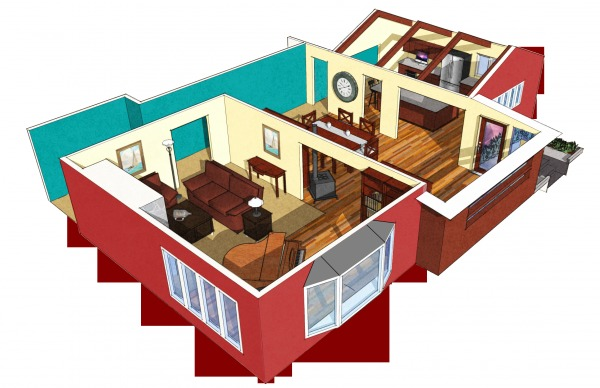 Image Main living area remod...