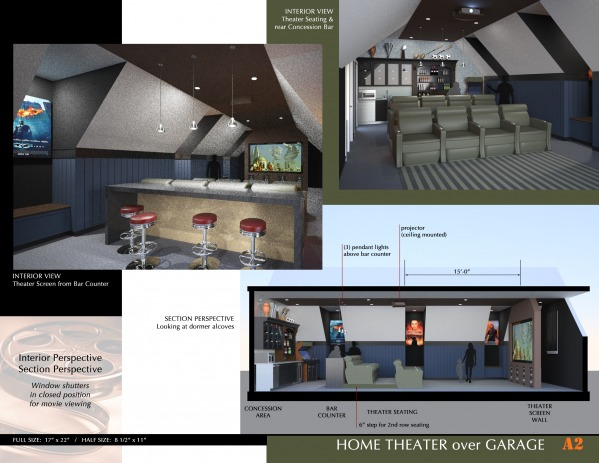Image Home Theater over Garage! (2)
