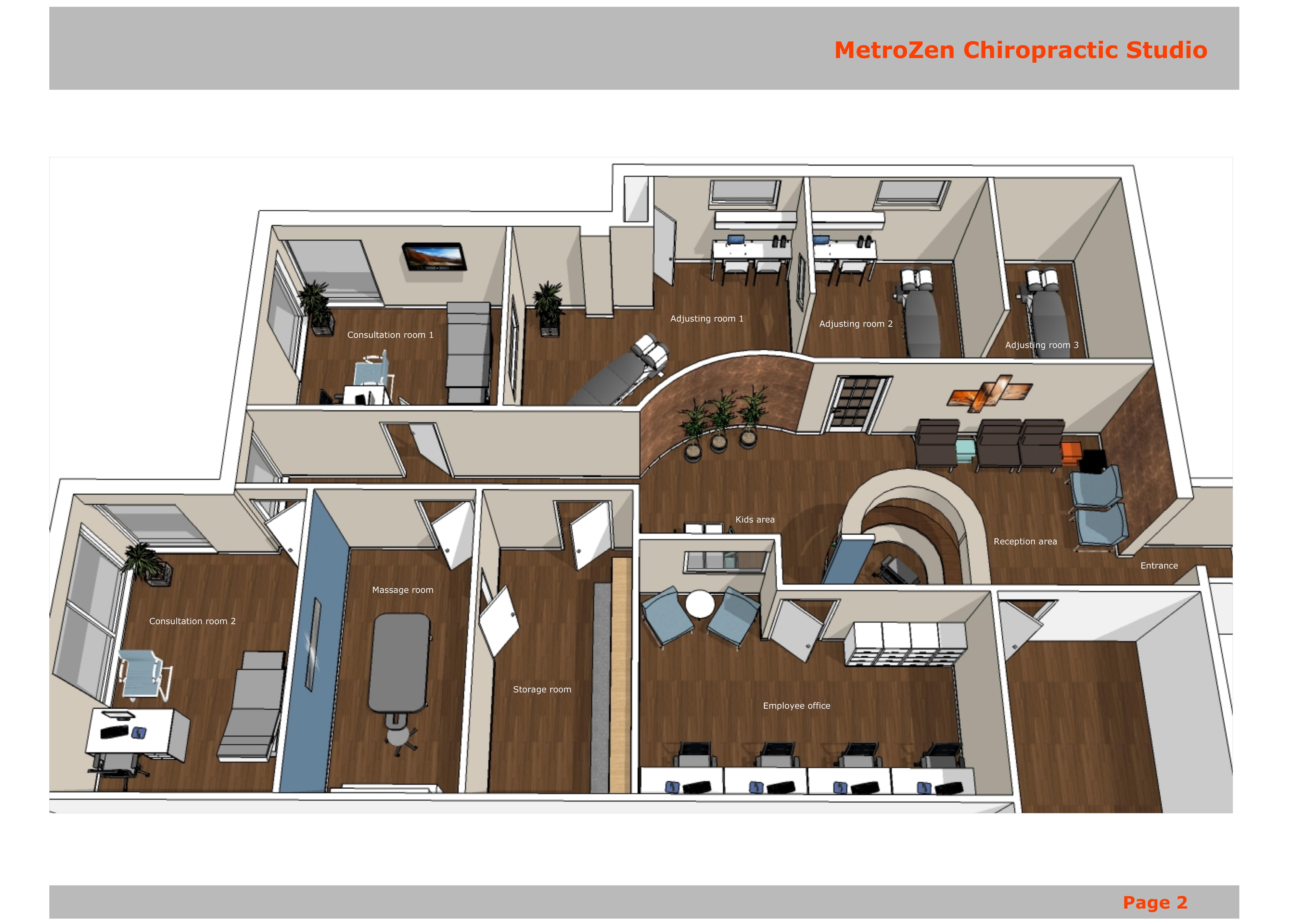 Healthcare designed by gordana potezica metrozen Chiropractic office designs