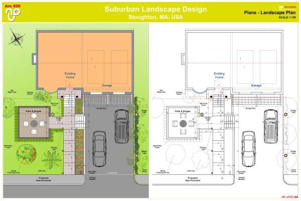 Image Suburban landscape des...