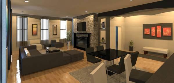 Living Room Rendering ...