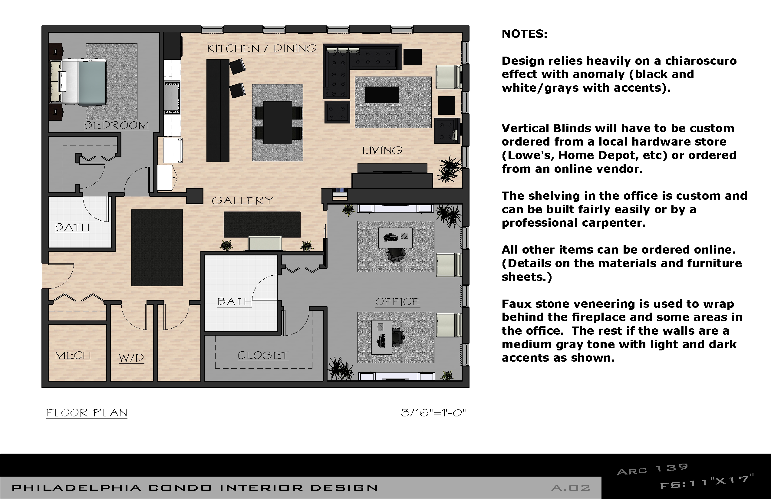 Viewdesignerproject projectapartment design for Floor plans with interior photos