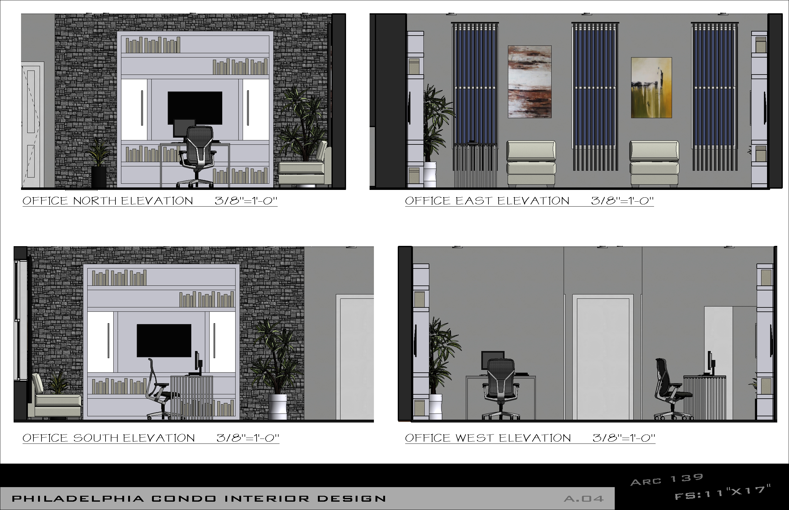 Pin office interior elevations on pinterest for Interior elevation designs