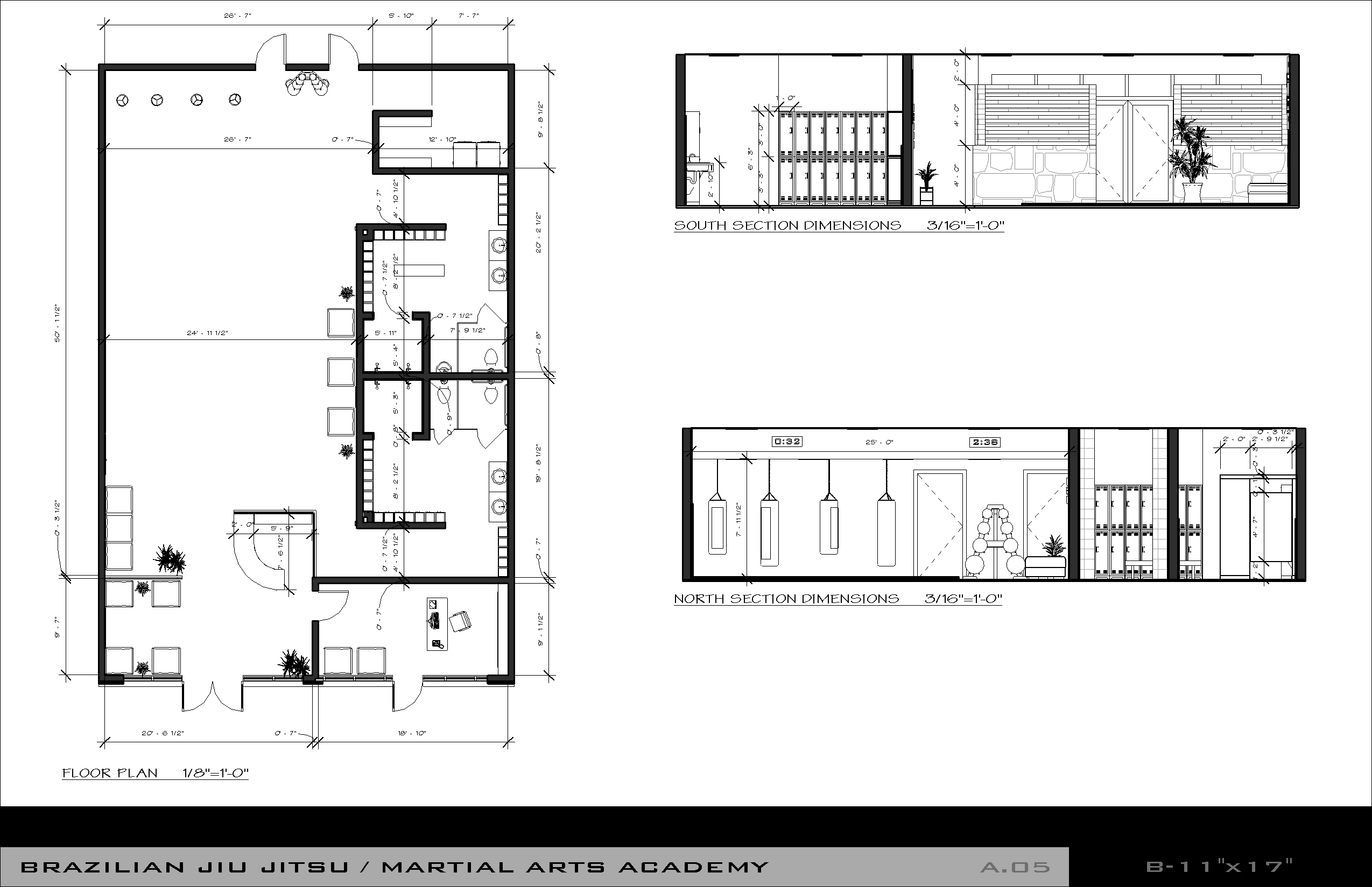 Floor plan ada bathroom dimensions on ada public bathroom floor plans - Sports Recreation Designed By Ken Howder Brazilian Jiu