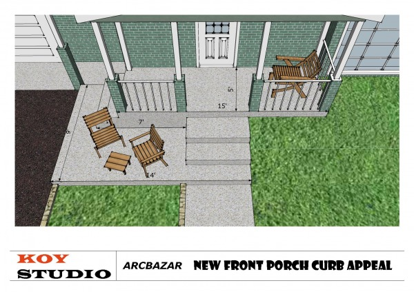 Image New Front Porch and En...