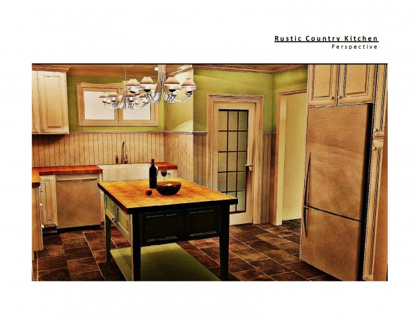 Image Country Rustic Kitchen...