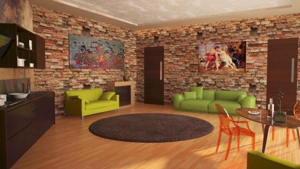 studio style living room