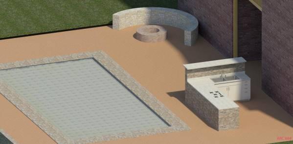 Image Backyard pool and deck
