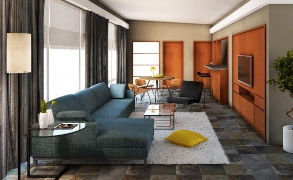 Image Midcentury modern home...