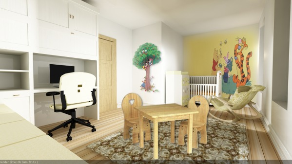 Image Baby's room 3d view , ...