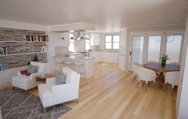 Multiple Rooms Designed By Anonymous Renovation Of Lr Dr Kitchen To Open Floor Plan Us Arcbazar