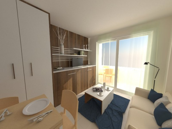 Living Room Designed By Valenty Shoebox Size Studio Apartment