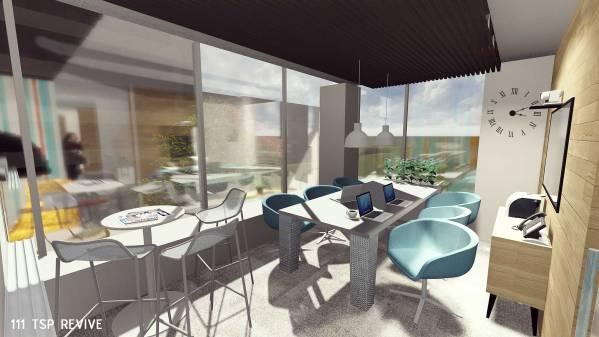 6-pax room rendering