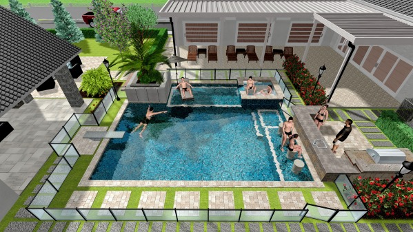 Image FUN!!! Pool, Backyard,...