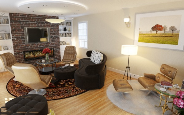 Image Family Room Interior D...