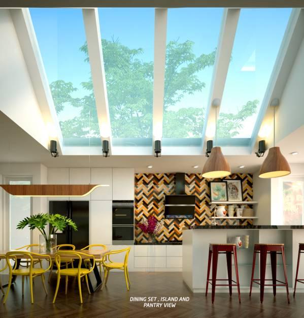 Image Kitchen, island and di...