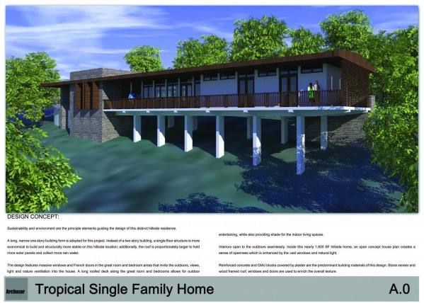 Ranch House/ Bungalow And Other Family Homes Competition -Gh