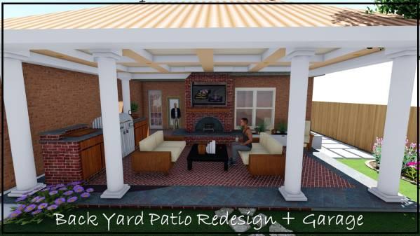 Image Back Yard Patio Redesi...