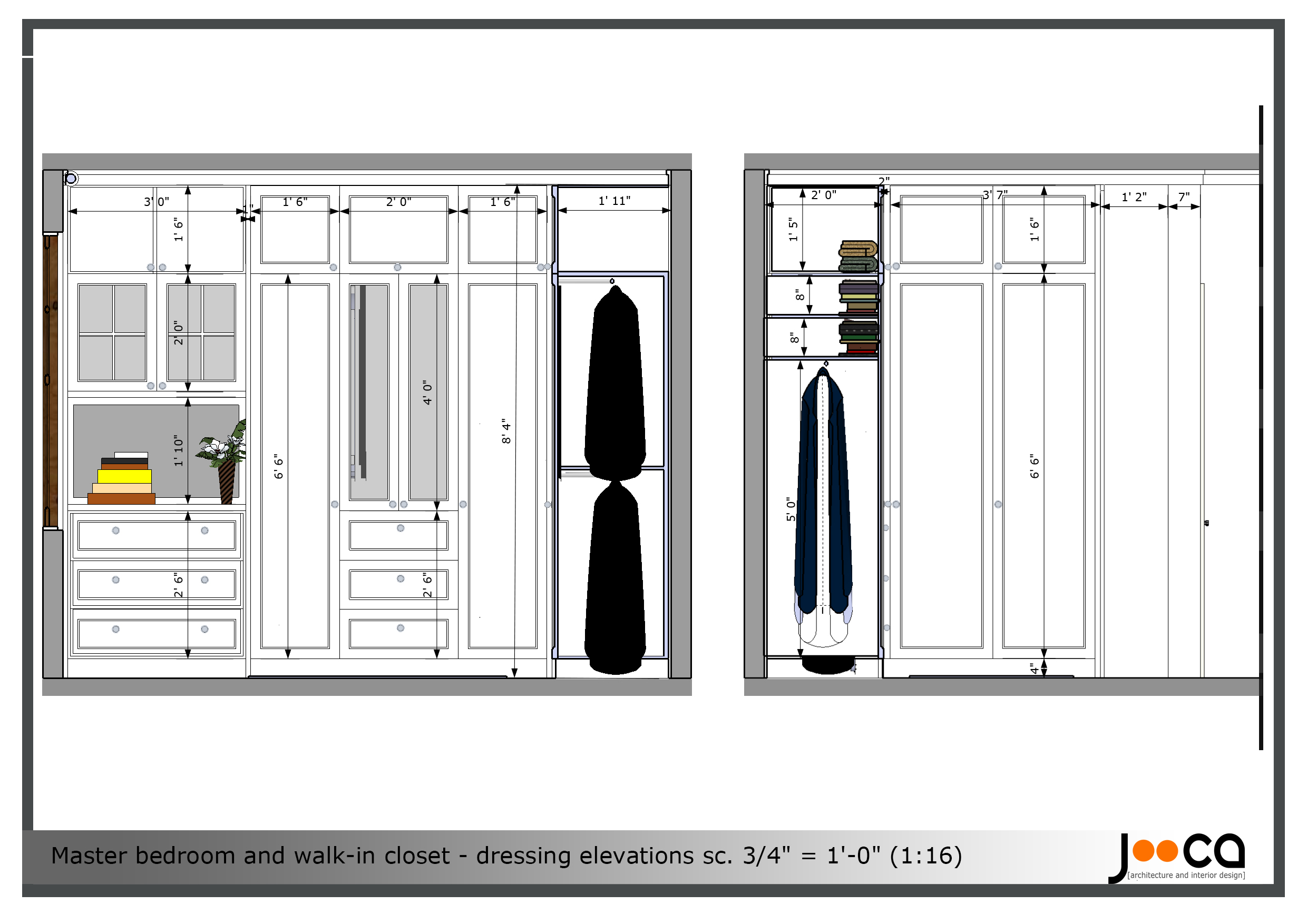Viewdesignerproject projectbedroom design Walk in closet measurements