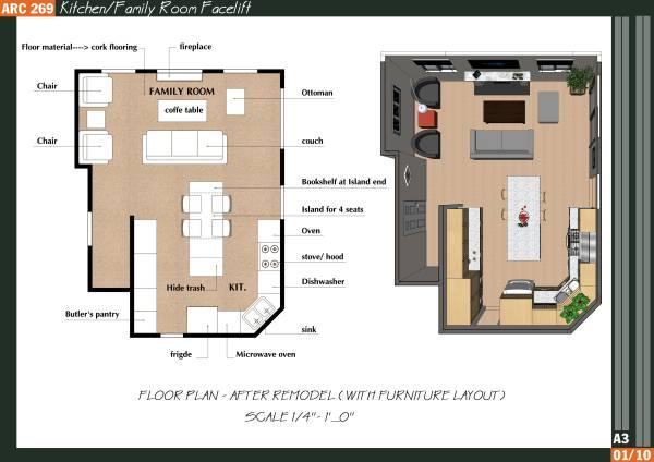 Image Kitchen/Family Room Fa...
