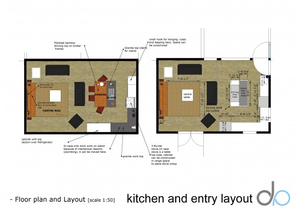 Image Kitchen and entry layout