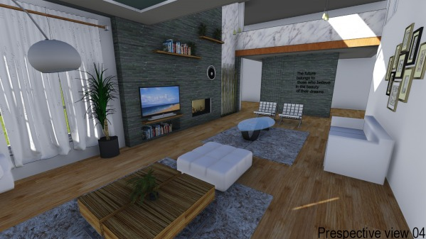 Image Living Room Linear Fir...
