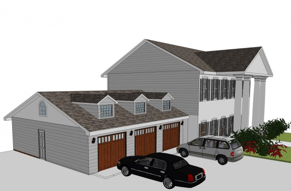Image Remodel + 3-car Garage
