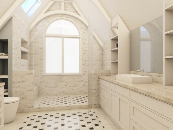 Image Master Bathroom + Closets