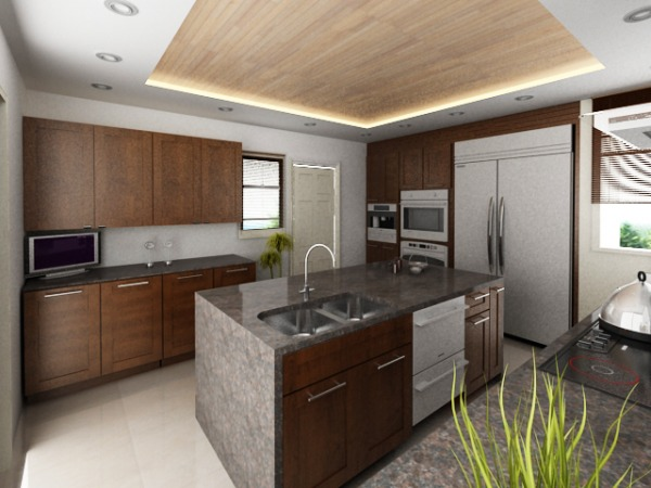 Image View of Kitchen Island...