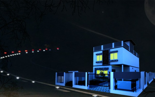 Image exterior night view