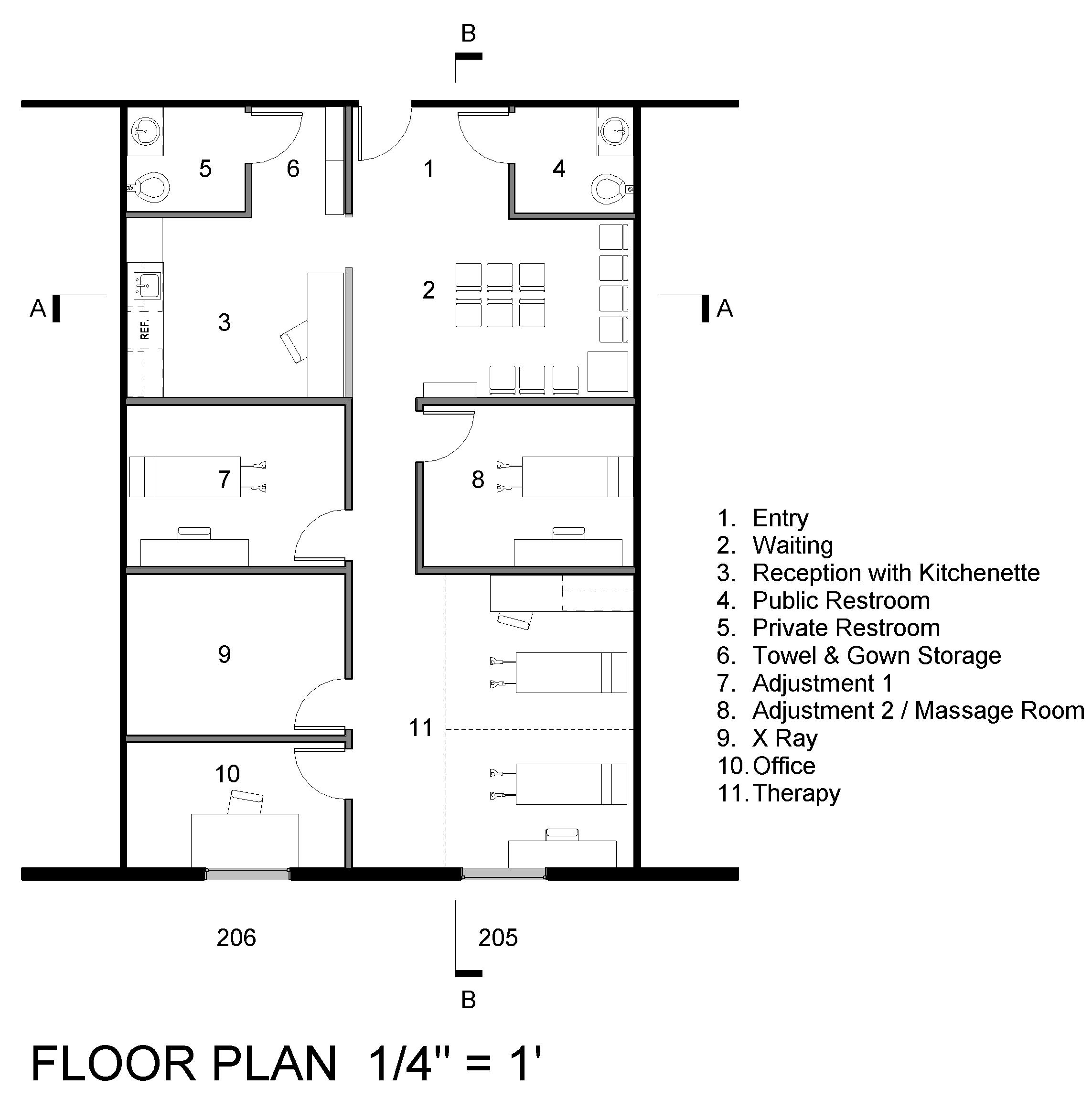 Chiropractic office floor plan joy studio design gallery for Office design floor plan