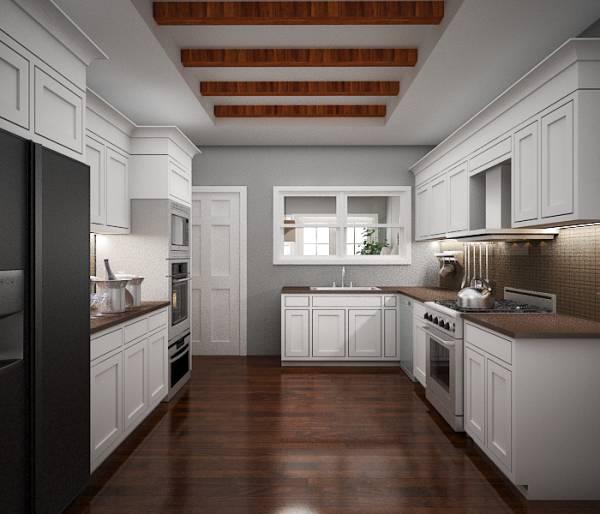 Image Kitchen toward sunroom...