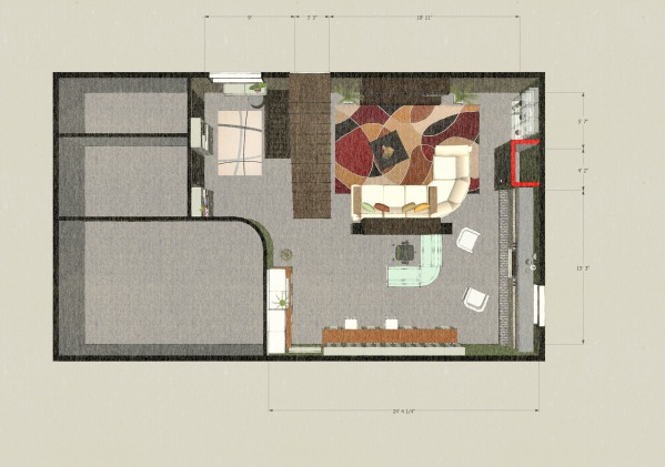 Floor plan with a diff...