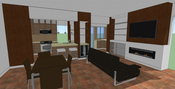 Image Kitchen with a Column! (2)