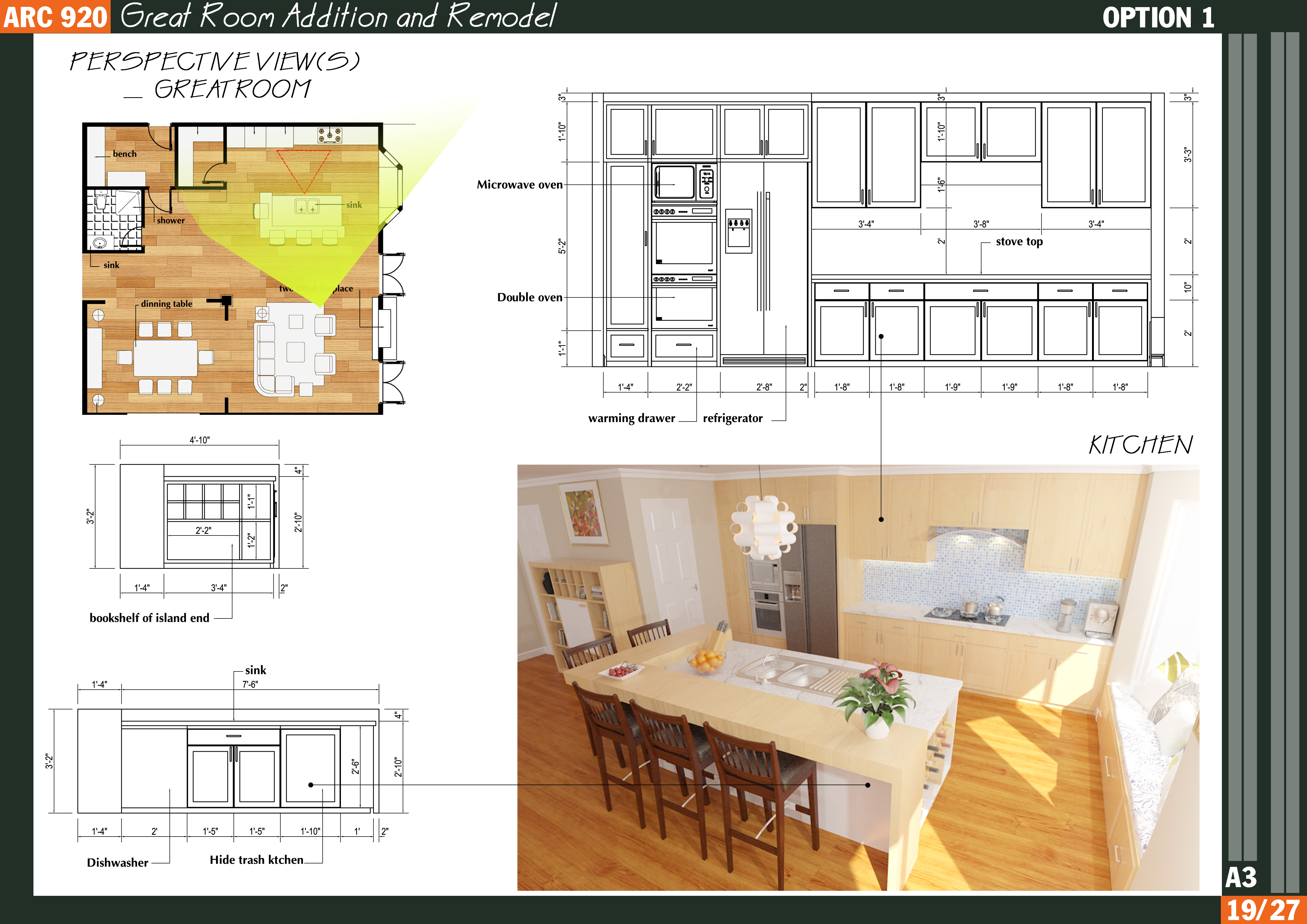 Floor plans designed by qarch team great room addition for Room addition floor plans