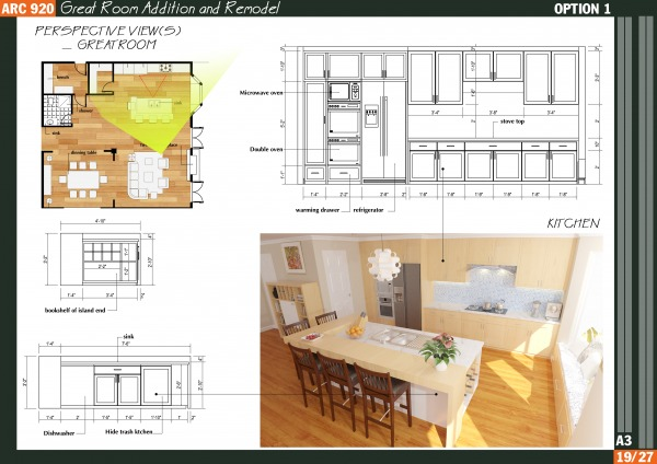 Entire floor designed by qarch team great room addition for Room addition plans free