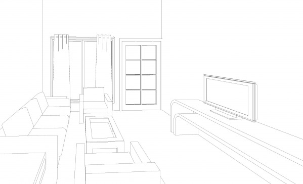 Image Living area Sketch
