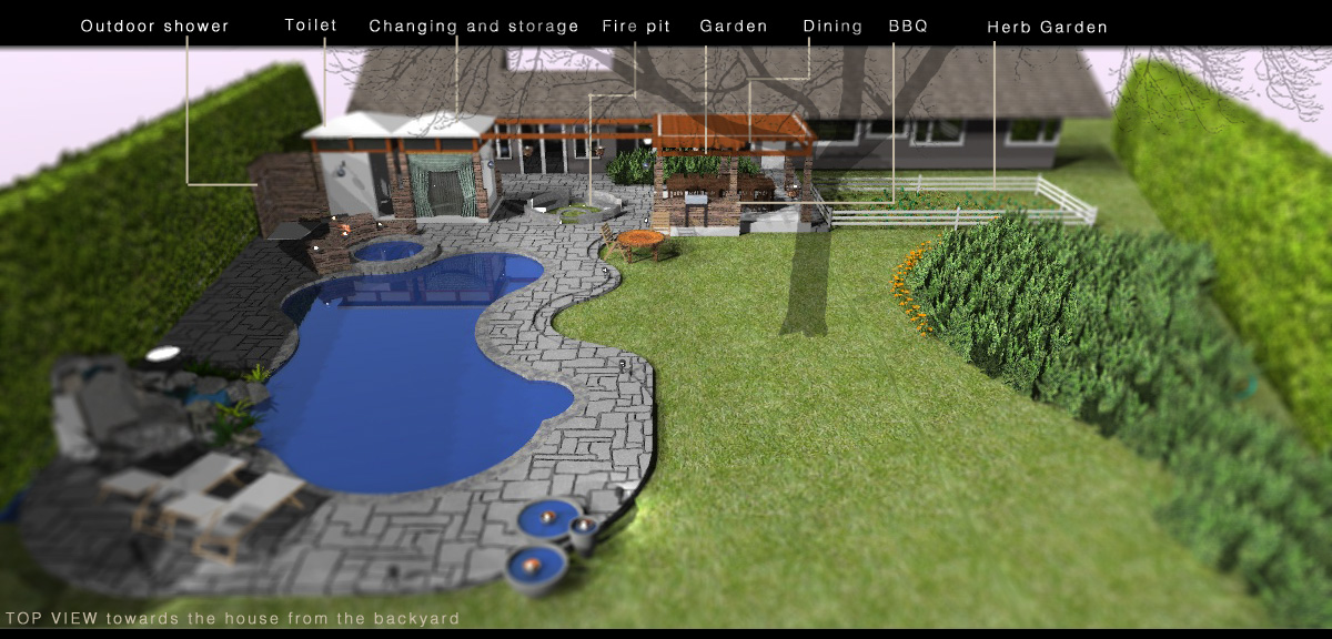 Backyard Landscaping Oakville : Backyard design project designed by a architects cottage oakville ontario