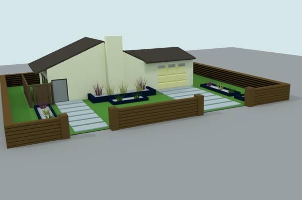 Image dahlia front yard