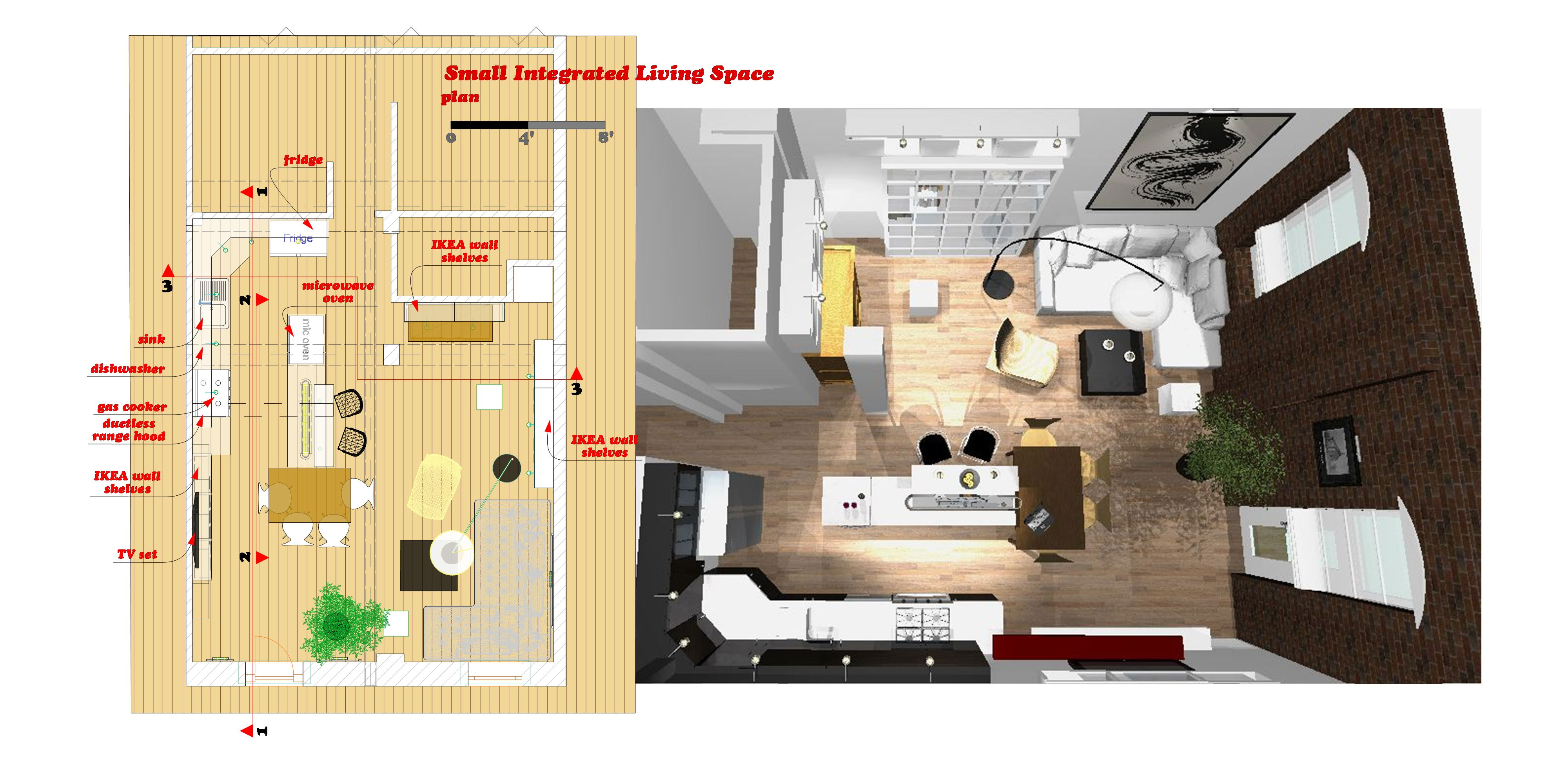 19 harmonious small space floor plans house plans 73282 for Small living space floor plans