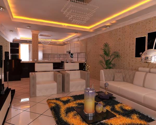 Kitchen Designed By Arcdecor Construction Open Kitchen Living Room Jamaica Plain Us Arcbazar